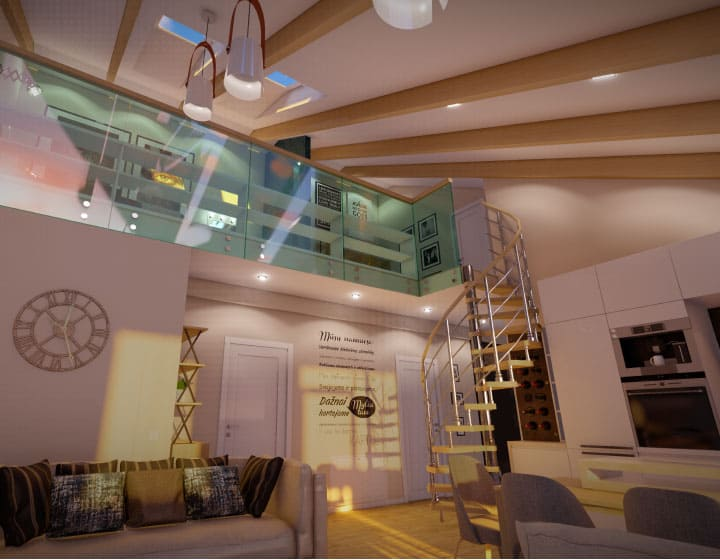 Walk in home VRay