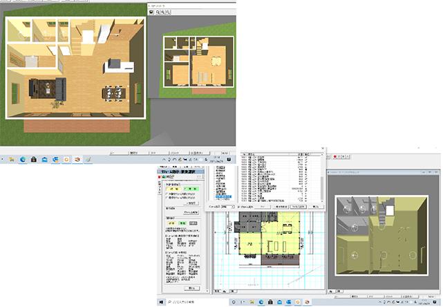 Walk in home(ウォークインホーム)はリフォームに対応したビフォアーアフターの表示や積算も可能